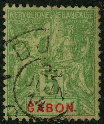 Gabon   1904-07    Scott #19   USED