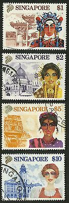Singapore  1990   Scott #580-583    USED Set