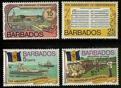 Barbados   1976   Scott #448-451   MLH Set