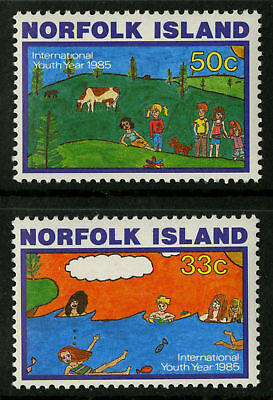 Norfolk Island  1985   Scott # 369-370  MNH Set