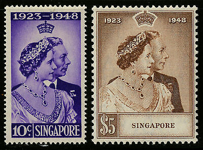 Singapore   1948   Scott #21-22    Mint Lightly Hinged Set