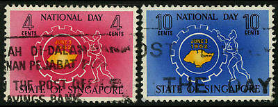 Singapore   1962  Scott # 60-61  USED Set