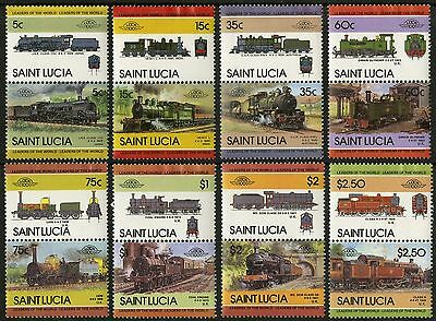 St Lucia   1985   Scott # 711-718   MLH Set