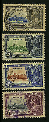 Nigeria   1935   Scott #34-37    USED Set