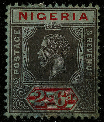 Nigeria  1921-33   Scott #30     Mint Lightly Hinged - Stain