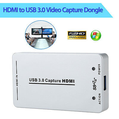 HDV-UH60 UVC USB3.0 1080P 60FPS HDMI Video Capture Dongle Card Box for Windows