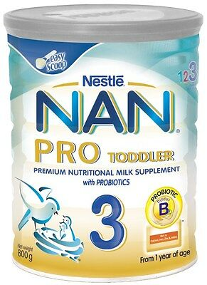 New 800g Nestle NAN Pro 3 w/Bifidus BL Milk Formula Toddler 1 Year Old