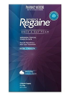 Regaine (Rogaine) Women Foam Hair Loss Treatment 120g (4 Month Supply)