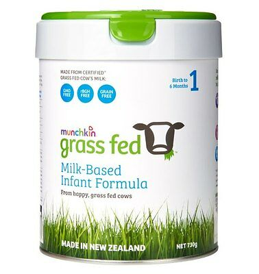 Munchkin Grass Fed Stage 1 Infant Formula 730g
