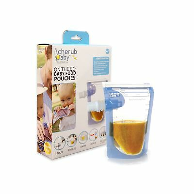 New 20 Cherub Baby Food Storage Pouch Ziplock Portable Reusable Disposable Pack