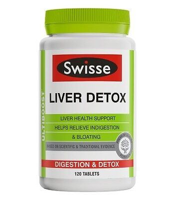 New 120 Tab Swisse Liver Health Tablets Detoxification & Digestion Supplements
