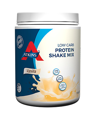 New 310g Atkins Shake Mix Vanilla Low Carb High Protein Diet Weight Loss Drink