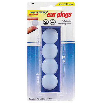 ProTech Ear Plugs Soft Silicone - 21 Decibels X 2 Pairs