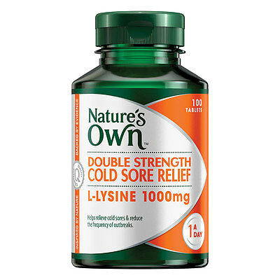 New 100 Tab Nature's Own Cold Sore Relief Tablets Fever Blister Double Strength