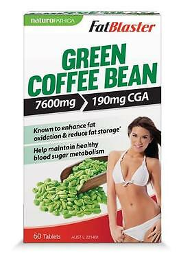 New 60 Tabs FatBlaster Green Coffee Bean Tablets Unroasted Chlorogenic Acids