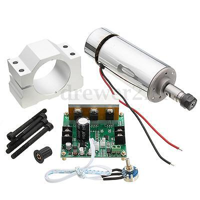 DC12-48V 400W Air Cooled Spindle Motor+ Mach3 Speed Controller Engraving Milling