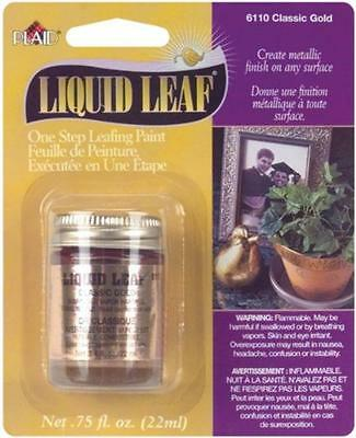 Plaid:Craft Liquid Leaf One Step Leafing Paint, 0.75-Ounce, Classic Gold, New, F