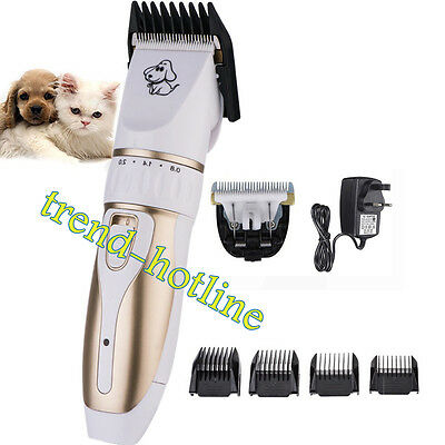 Electric Low-noise Animal Pet Dog Cat Hair Razor Grooming Clipper Trimmer Brush