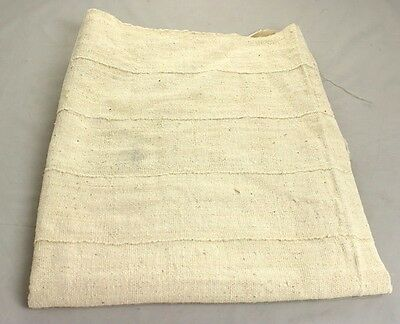 "Authentic Plain White Mudcloth Fabric African Mali Mud Cloth Handwoven 63"" x45"""