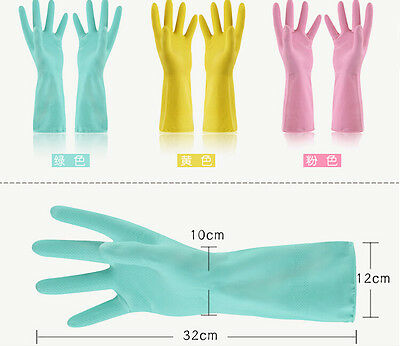 Women's Gloves Waterproof Rubber Household Glove Kitchen Cleaning Wash Dishes