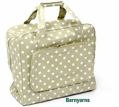 Sewing Machine Bag (PVC) Storage Bag For Your Sewing Machine - Sage White Polka