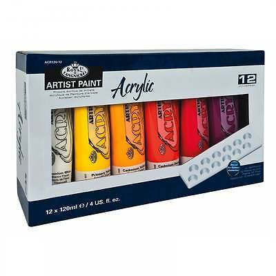 Royal & Langnickel Acrylic Paint Including Mixing Palette 12 x 120ml Set