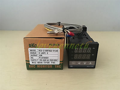 PID Temperature Controller REX-C100 SSR/Relay Output + K type thermocouple