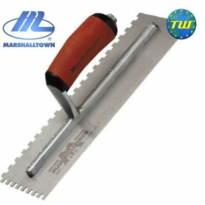 "Marshalltown 11"" x 4.5"" Square 6mm Notched Trowel with Durasoft Handle M702SD"