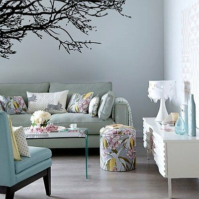 FP Black Tree Branch PVC Removable Room Art Mural Wall Sticker Decal
