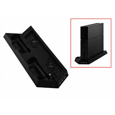 FP Dual USB Charger Dock Station Stand w Cooling Cooler Fan for PS4