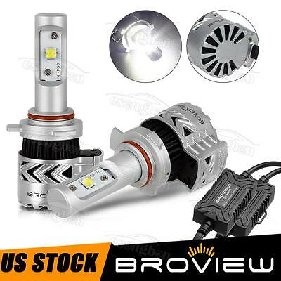 BroView V8 9012 HIR2 Cree 12000LM Headlight Lo Beam 50W All in One LED For Dodge
