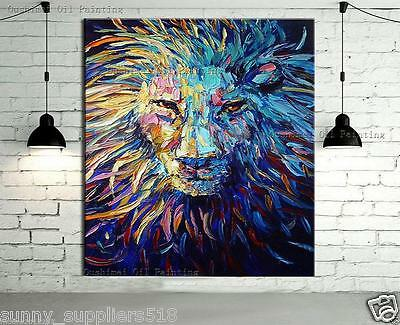 Modern Large Wall Decor 100% hand-painted Oil Painting lion on canvas(NO frame)
