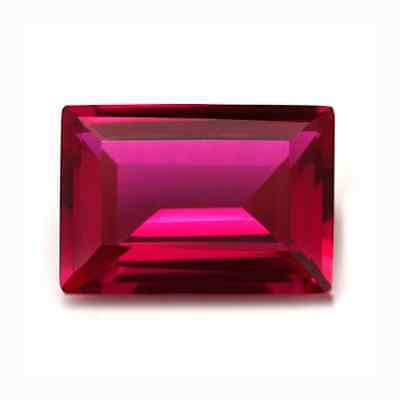 Lab Created Synthetic Ruby Corundum AAA Baguette Loose Gemstone(3x2mm - 16x12mm)