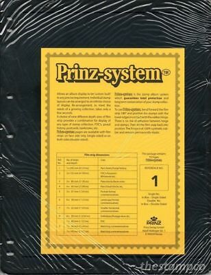 Prinz System Black Single Sided Pages x 10 - Select from 1 to 8 Strip - Free P&P