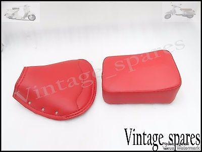 Vespa Brand New Front And Rear Red Seat Cover Set Vbb/super/px/rally