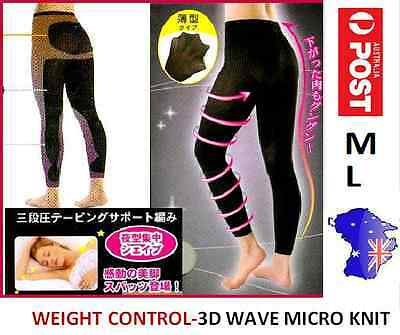3D Wave Design - Massage Slimming Pants Leggings-Slim Lift Body Shaper-M/l-New