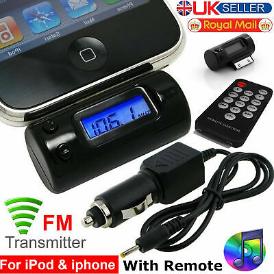 FM Transmitter Remote Car Cigarette Lighter LCD Display Adapter For iPod iPhone