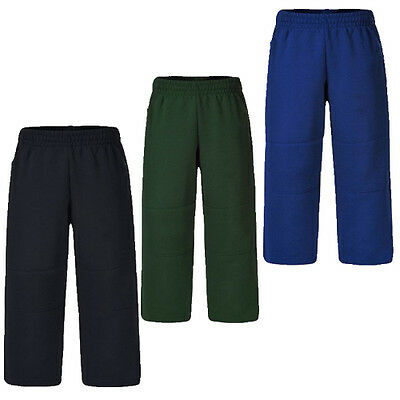 *NEW* Boys Green Blue Navy Double Knee Elastic Waist Track Pant Size 14 16