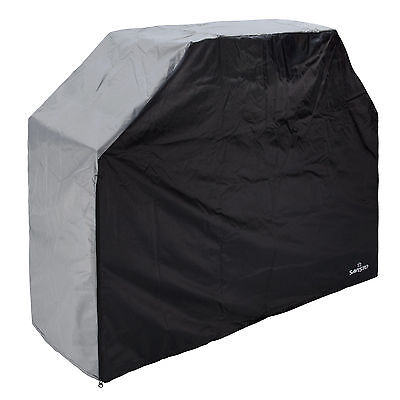 Savisto Heavy Duty Waterproof Barbecue Rain Cover for Gas Grill Coal Barbeques
