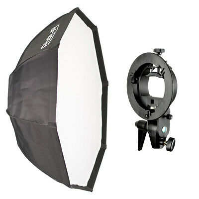 Phot-R 95cm Octagon Octabox Softbox Bowens S-Type Flash Speedlite Bracket Mount