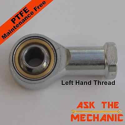 M8 Female Track Rod End 8mm High Performance Rose Joint - Left Hand Thread - OL
