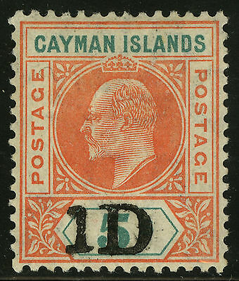 Cayman Islands   1907-08   Scott # 19  Mint Lightly Hinged