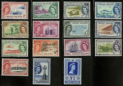 Cayman Islands   1953-59   Scott # 135-149  MH-MLH Set