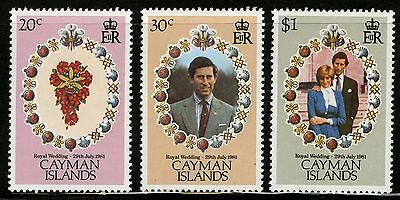 Cayman Islands   1981   Scott # 471-473   Mint Never Hinged Set