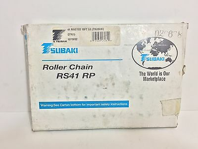 New! Tsubaki Roller Chain Rs41-Rp Rs41 Rp 10 Ft Long 41 Riveted