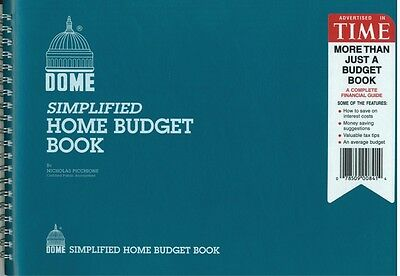 "Dome Simplified Home Budget Book - 840 - 7"" x 10"" - BLUE Cover"
