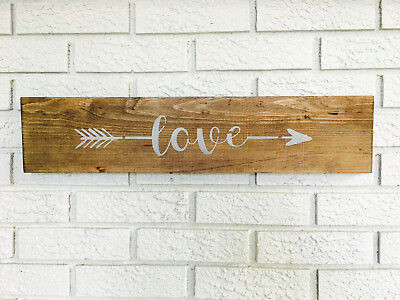 "Large Rustic Wood Sign - ""Love"" - Farmhouse, Shabby Chic, Wedding"