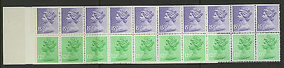 Great Britain   1982   Scott #MH 93e    Mint Never Hinged Booklet Pane