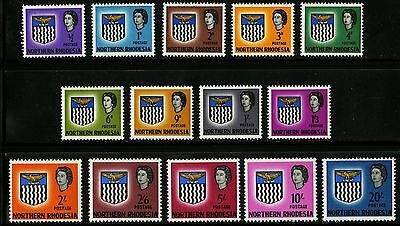 Northern Rhodesia  1963   Scott # 75-88   Mint Very Lightly Hinged Set