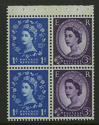 Great Britain   1960-67   Scott # 354fp    Mint Never Hinged Booklet Pane -Right